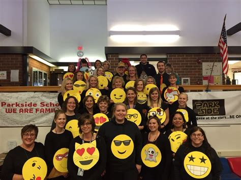themes for link crew groups easy group costume parkside teachers emoji costumes