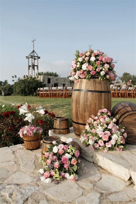 Creative Wine Barrel flower decoration Arnaoon Village