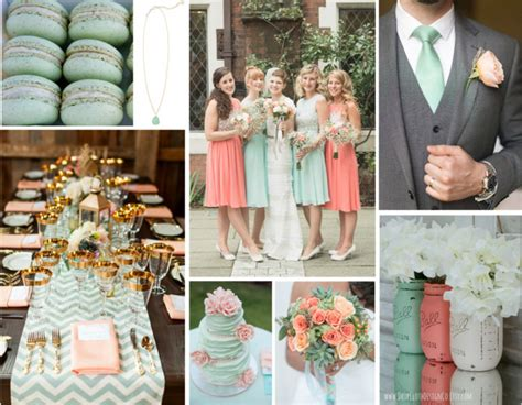 Home Decor Color Combinations mint green amp peach wedding inspiration modern martha