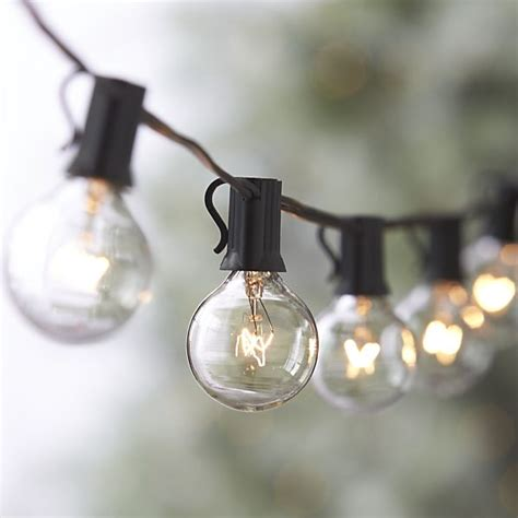 Light Bulb Strings Outdoor Globe String Lights Crate And Barrel