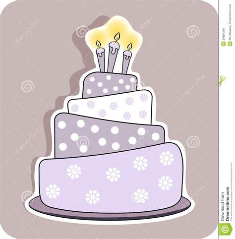 foto candele accese torta di compleanno con tre candele accese illustrazione