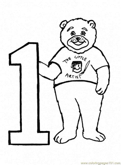 printable angka number 1 coloring page az coloring pages