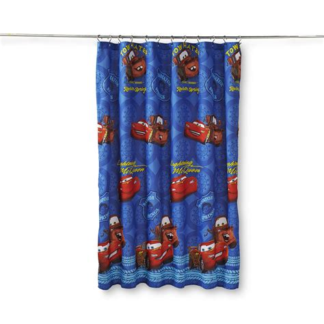 Disney Cars Bathroom Accessories Disney Cars Boy S Microfiber Shower Curtain Home Bed Bath Bath Bathroom Accessories