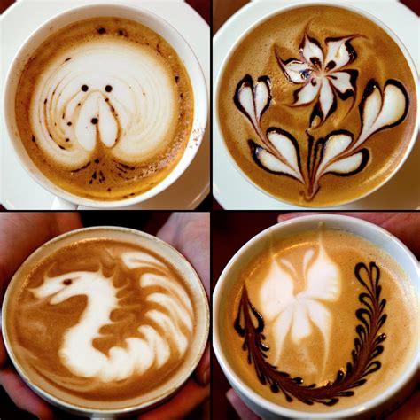 how to make designs on coffee cursos de barista