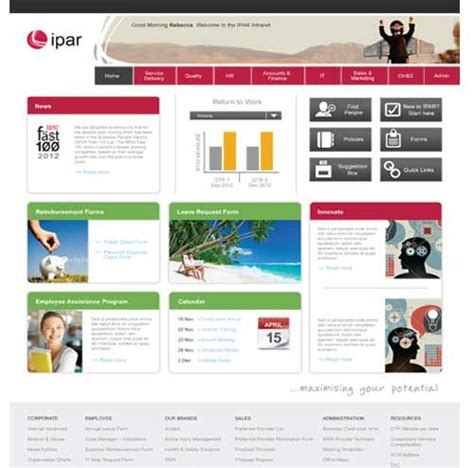 Simple Sharepoint Intranet Redesign Update Footer Width 100 Colour Palate Bootstrap Paginf Sharepoint Responsive Design Templates
