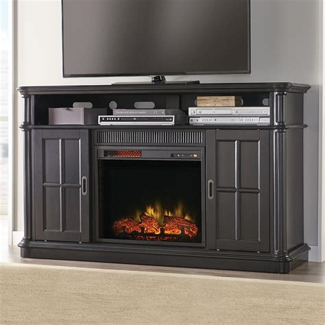 60 electric fireplace napoleon 60 in wall mount linear electric fireplace in black nefl60fh the home depot