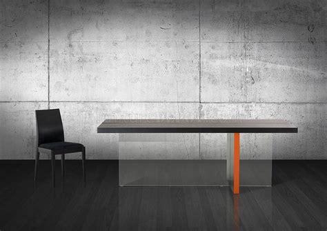 modern black glossy floating dining table  vig