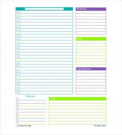 Day Planner Template Excel Planner Templates Free Template Lab In Free Day Planner Template