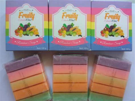 Fruity Rainbow Soap 10 In 1 Original sabun fruity soap 10 in 1 rainbow soap bpom