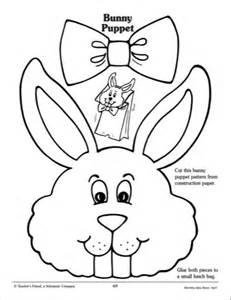 easter bunny paper bag puppet template paper bag puppet clipart 47