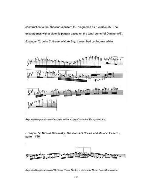 pattern thesaurus cyclic patterns in john coltrane s melodic vocabulary as