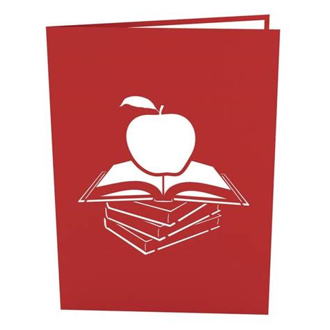 how to make pop up cards for teachers s apple pop up thank you card lovepop