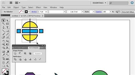 tutorial illustrator pathfinder adobe illustrator introduction to the pathfinder youtube