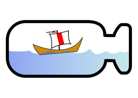 dessin bateau bouteille image bateau en bouteille dessin 25555