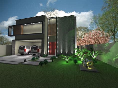 casas contemporaneas fachada de casa contemporanea con aplicaciones de piedra