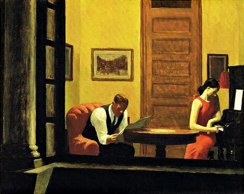 Edward Hopper Room In New York by Edward Hopper Poster Print Store