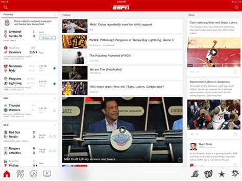 best app for live sports espn get scores news and live sports screenshot