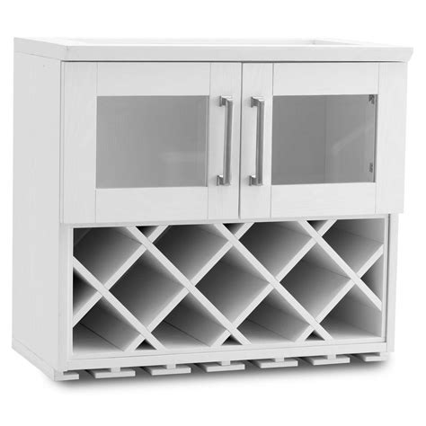 kitchen home bar products newage products home bar 11 bottle white woodgrain bar