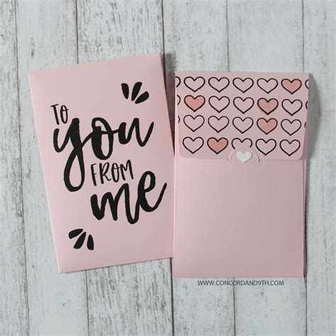 concord  die love notes envelope die