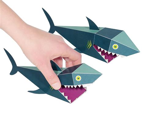 Paper Toys - sea animals paper toys pukaca