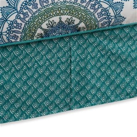 teal bed skirt buy anthology bed skirt from bed bath beyond