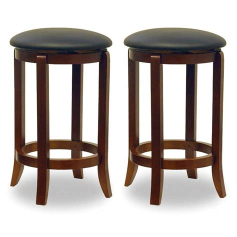 Swivel Kitchen Bar Stools by Winsome 174 24 Quot Swivel Counter Stools Set Of 2 151315