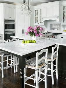 white kitchen islands with seating extended seating the island and the black white