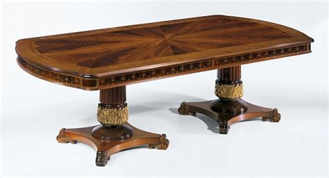 high end accent tables regency style high end dining table
