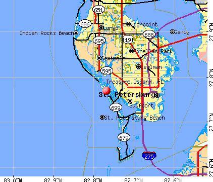 treasure island map florida treasure island florida fl 33706 profile population