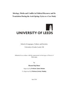 thesis on translation studies pdf ideology media and conflict in political discourse and