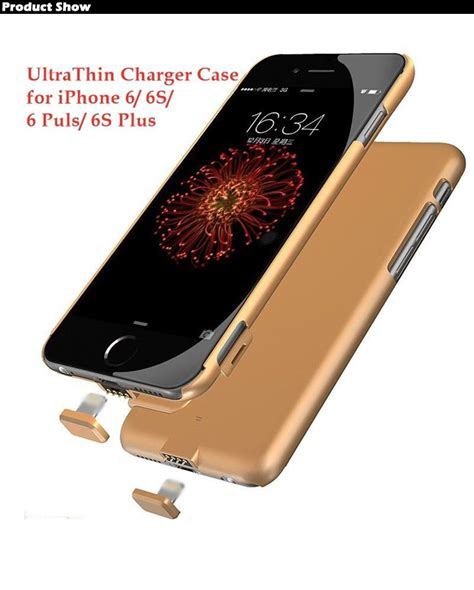Iphone 6 6s Plus Powerbank Power Bank Armor Cover Casing 8000mah external backup battery charger power bank slim cover for iphone 6 6s plus ebay