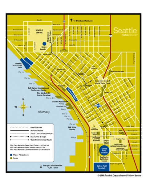seattle visitors map seattle visitor map