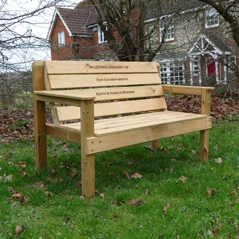 memorial bench uk personalised garden memorial bench