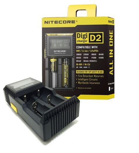 Charger 2 Di Ibox nitecore digicharger d2 battery charger vaporside