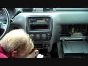 honda cr v car stereo removal 1997 2001