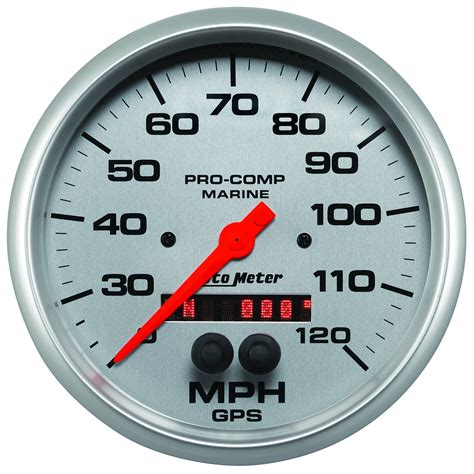 gps boat speedometer 5 quot gps speedometer 0 120 mph marine silver