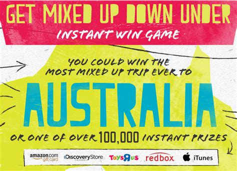 Instant Win Australia - lunchables free amazon gift archives mojosavings com