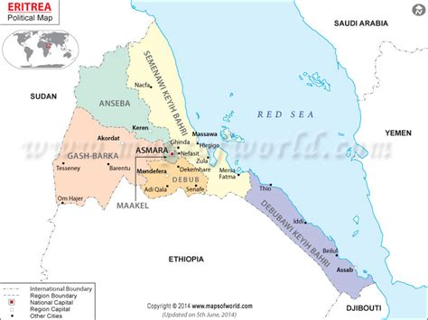 eritrea map where is eritrea location of eritrea