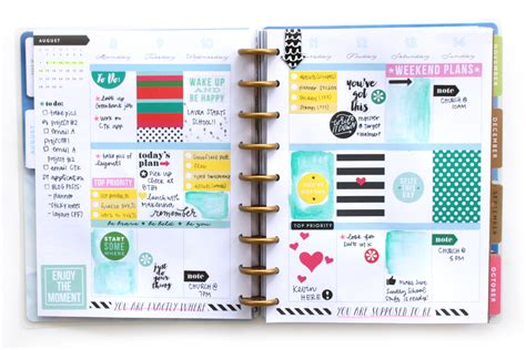 Happy Planner Pictures stickers watercolor in the picture quote happy planner