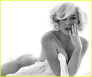 Lindsay Lohan As Marilyn Five Outtakes 2008 just jared page 1039