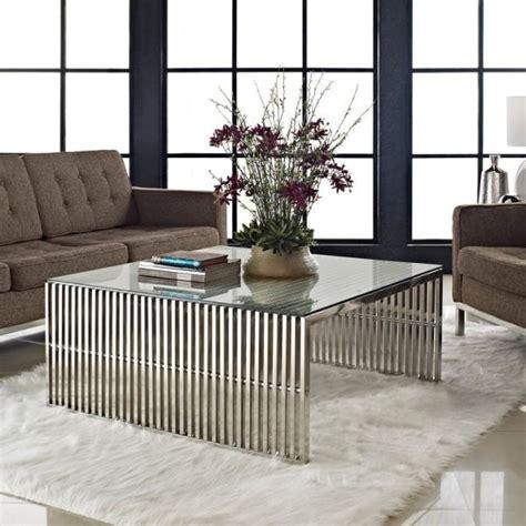 modern metallic coffee tables