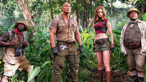 what is on at the movies jumanji welcome to the jungle by dwayne johnson jumanji welcome to the jungle trailer movie and tv reviews