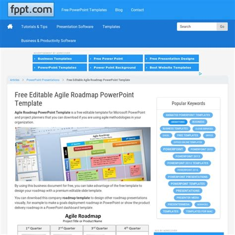 free roadmap powerpoint template free editable agile roadmap powerpoint template pearltrees