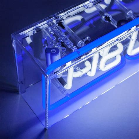 Acrylic Neon Box 121 best neon signs images on led signs neon and neon tetra