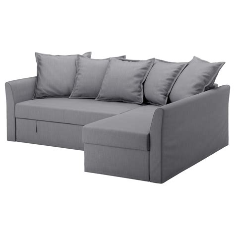 Ikea Sofa Bed Holmsund Corner Sofa Bed Nordvalla Medium Grey Ikea
