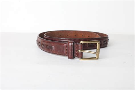 vintage s fossil leather belt