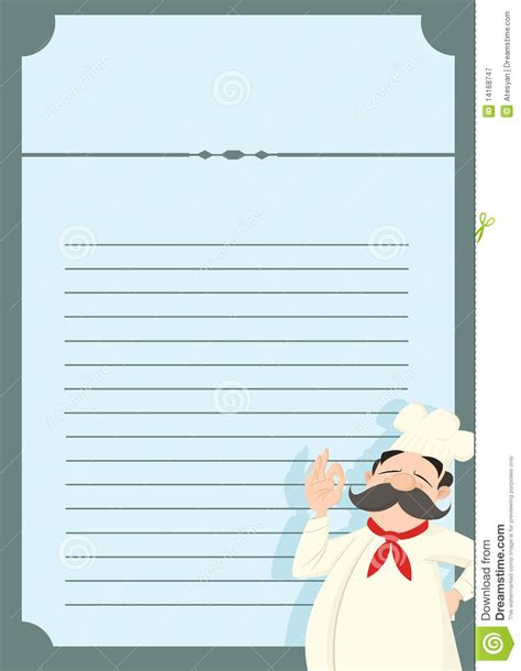 Restaurant Menu Template With A Funny Chef Stock Vector Image 14168747 Chef Portfolio Template Free