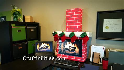 Decorate Your Office With A Computer office idea fireplace computer cubicle