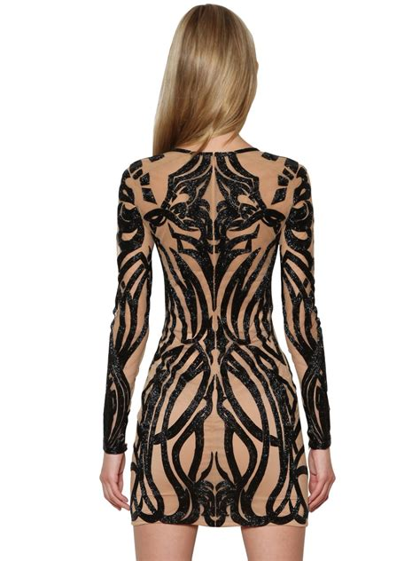 dress tattoo lyst zuhair murad effect tulle dress in