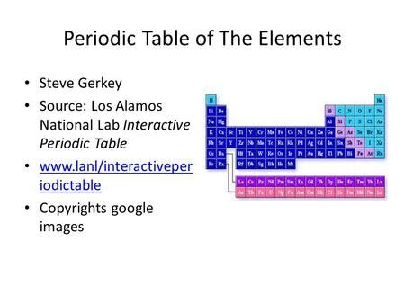 Periodic lanl gov elements dyrevelferdfo the periodic table of elements science 6 at fms what is platinum mandisa keswa ppt video online download urtaz Image collections